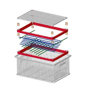 The new MEFO-Vario tray system from Metallform Wächter GmbH allows reliable and cost-effective monitoring of the achievable cleanness early on during the prototype or pilot series stage.