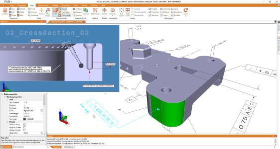 3DViewStation supports PMIs, MBD processes