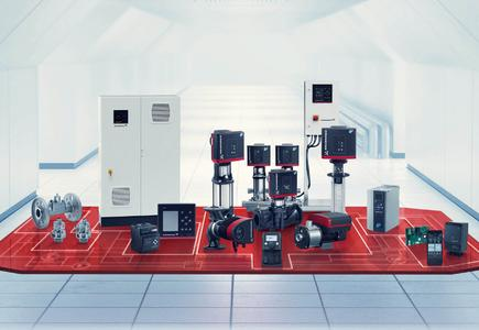 iSolutions consist of pumps, motors and drives, control and protection modules as well as measurements, data communication and monitoring units