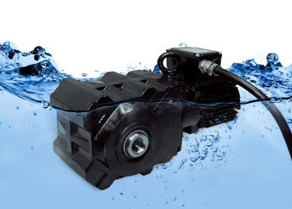 Unterwassertauglicher Kegelradgetriebemotor vom Typ Bauer BK10