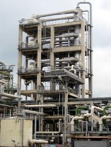 Steam jet cooling plant in the chemical industry