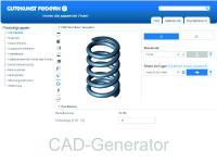 CAD-Daten-Generator für Metallfedern von Gutekunst Federn