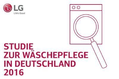 LG Studie zur Wäschepflege in Deutschland 2016