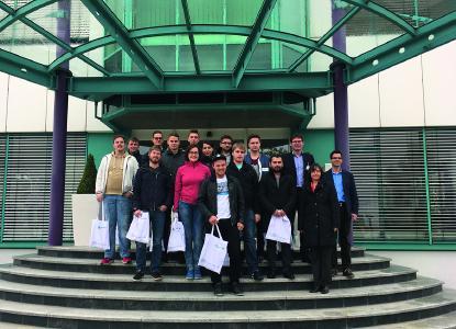 Studierende der Technischen Hochschule Nürnberg zu Gast in Heilbronn-Franken / Foto: WHF GmbH