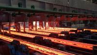 Sechs-(acht-) strängige Hochgeschwindigkeits-Stranggießanlage bei Jindal Shadeed Iron & Steel LLC (JSIS), in Sohar, Oman, kurz nach der Inbetriebnahme