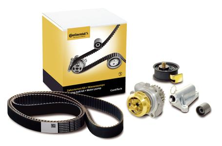 The new packagings for the timing belt kits plus water pump are more modern and protect the product better against external influences (Photo: ContiTech)