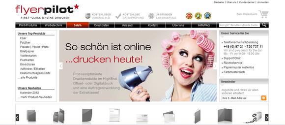 Screenshot Flyerpilot.de