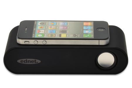 Der Induktionslautsprecher Magic Sound verstärkt den Sound des Smartphones