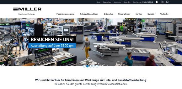 Neue Homepage miller-maschinen.de
