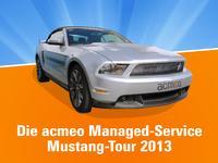 Roadshow der besonderen Art: Die acmeo Managed-Service-Mustang-Tour
