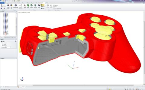 STL Prep 3D Printing.jpg: Mit dem SpaceClaim-Modul STL Prep 3D Printing lassen sich STL-Daten unkompliziert modifizieren  / Bild: SpaceClaim Corporation, Concord (Massachusetts)