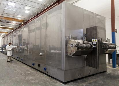 GEA has equipped its HVF freezer with high-velocity air nozzles, which also enable efficient crust freezing (photo: GEA).