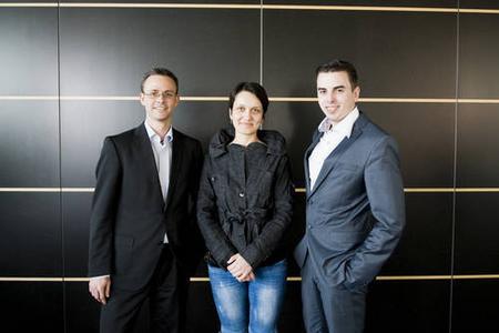 Bastian Karweg (3.v.l.) mit Echobot-Teammitgliedern