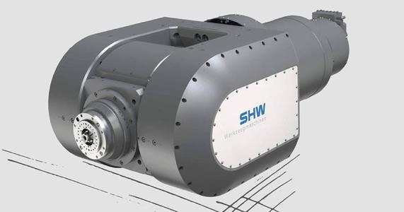 The new fork milling head by SHW Werkzeugmaschinen is ideal for 5-axis simultaneous machining in classical mechanical engineering as well as for smoothing in mould-making.