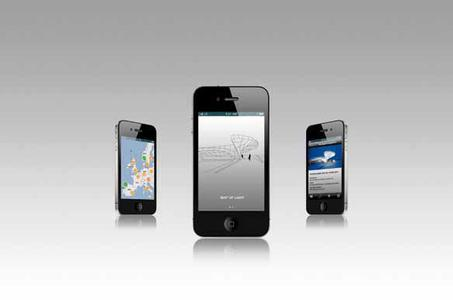 """B1 I Now also available on mobile terminals: Zumtobel's new """"Map of Light"""" app provides information on new projects and products via iPhones, iPads and iPods"""