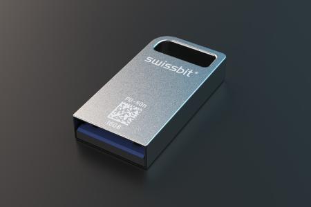 Produkthighlight auf der electronica: USB-Stick PU-50n DP mit interner AES-256-Bit-Verschlüsselung, Zugriffsschutz und optionaler ROM-/WORM-Funktion, Bildquelle: Swissbit