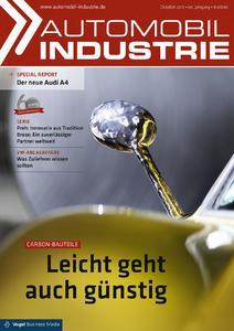 """Die neue Ausgabe der """"Automobilindustrie"""" stellt die neue Prozesstechnik """"xFK in 3D"""" vor"""