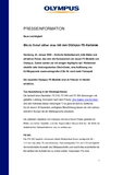 [PDF] Pressemitteilung: Bis zu 5-mal näher dran mit den Olympus FE-Kameras