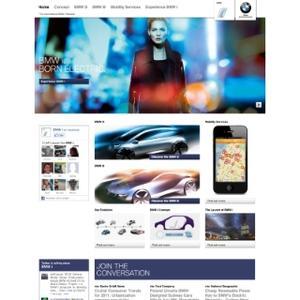 Webpage BMW i Home