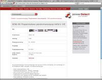 Beispiel für einen powerSelect Produktsteckbrief