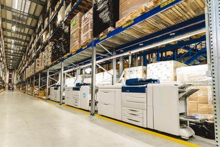 Adnymics Drucksystem in den Logistikhallen von Fiege im Einsatz