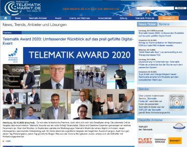 Die Verleihung des Telematik Awards 2020 fand in diesem Jahr als Digital-Event statt und hatte so einiges zu bieten.