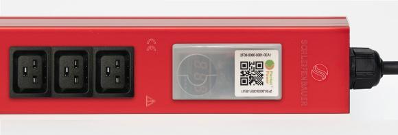 Das Funkmessmodul zum Monitoring der vitalen Stromwerte ist direkt in die PDU-Stromleiste integriert