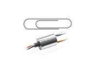 Kleiner als eine Büroklammer: Bei dem neuen Modell SVTS A Micro handelt es sich um einen besonders kompakten Schleifring