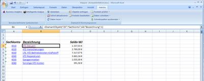 """Nahtlose Integration: Direkt aus Excel kann der Anwender per """"Drill-Down""""..."""