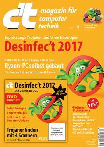 Die Highlights der neuen c't 12/17: Desinfec't 2017 und der c't-Lego-Crash-Test