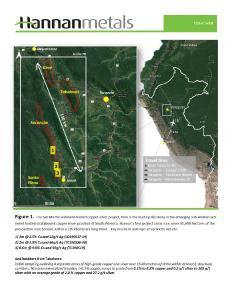 Hannan's Granted Mining Concessions Increase at San Martin, Peru