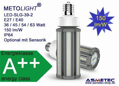 METOLIGHT LED Straßenlampe SLG 39-2 mit 150 lm/W