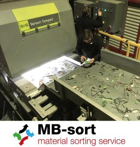 MB-sort recovers secondary raw materials for its customers by sorting various mixed fractions, for example of electrical and electronic scrap / Photo: MB-sort