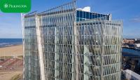 Neues Hotel in Scheveningen mit digital bedrucktem Glas