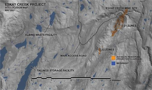 Skeena Discovers Additional High Grade Mineralization in Former Eskay Creek Waste Facility Including 13.09 g/t AuEq over 13.68 metres