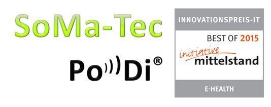SoMa-Tec's PoDi mit dem INNOVATIONSPREIS-IT E-Health 2015 ausgezeichnet!