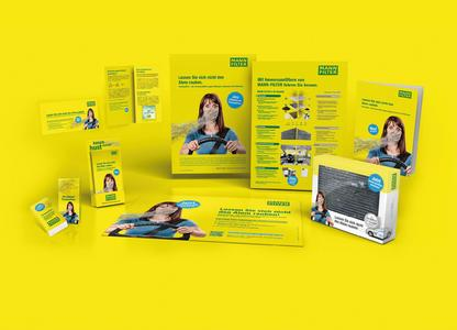 Frische Werbung von MANN-FILTER für die Verkaufsräume der Werkstätten