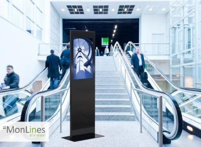 MonLInes MDS004 - Design Display Stele pulverbeschichtet als Infopoint