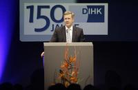 """Bundespräsident Christian Wulff am 22. März 2011 auf dem Festabend """"150 Jahre DIHK"""" , Fotonachweis: DIHK"""