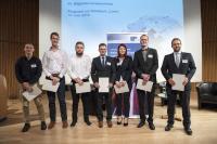 Förderpreisträger, IMU-Stipendiaten 2018 und Azubi-Awardträger 2018 (von rechts) bei der Verleihung am 14.06.2018 während der Jahrestagung Massivumformung in Lünen