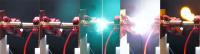Picture series of an arc flash created at the Fraunhofer IISB arc fault test stand. Picture: Kurt Fuchs / Fraunhofer IISB