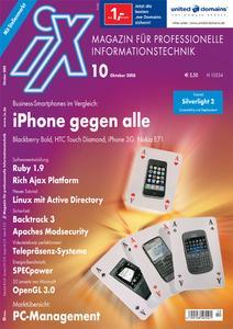 Das Titelbild der aktuellen iX-Ausgabe 10/2008