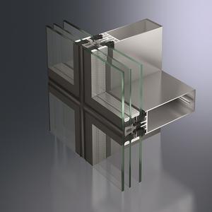 Schüco Structural-Glazing-Fassadensystem FW 50+ SG.SI in hochwärmegedämmter Ausführung