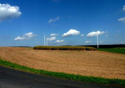 Visualisierung der geplanten Windenergieanlagen in Heppdiel Windischbuchen von Green City Energy