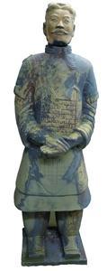 Der Terrakottakrieger General Yuan vor der Restaurierung (Bildquelle: Remmers Baustofftechnik, Löningen)