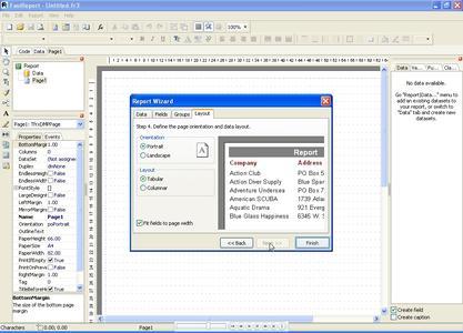 FastReport VCL ist eine schnelle und einfach zu bedienende Report-Building-Komponente für Business Intelligence-Anwendungen.