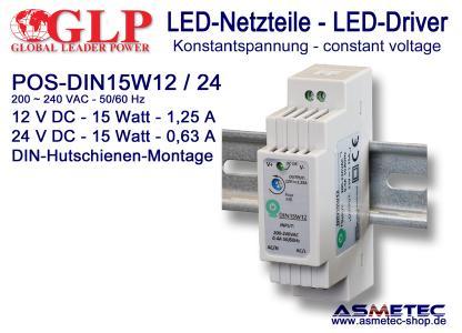 GLP LED-Netzteil POS DIN 15 Watt