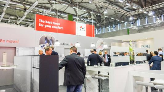 OKIN booth at the interzum 2017 in Cologne
