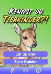 Kennst du Tierkinder? - Startscreen