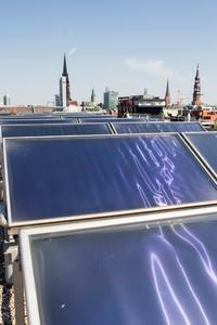 Vattenfall Solarthermie-Anlage in der HanfenCity